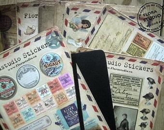 10 Sheets Korea Vintage Sticker Set - Paper Sticker Set - Polaroid Deco Sticker