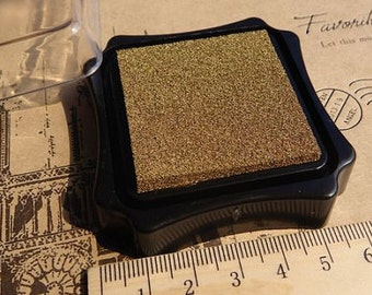Ink-pad - Golden - made of environment-friendly water-based pigment