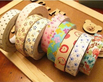 5 Pcs Rural wind only beautiful multi-function adornment Masking Tape