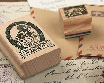 Korea DIY Woodiness rubber stamp-DIY Tin Box Stamp Set- Dorothy Series 2