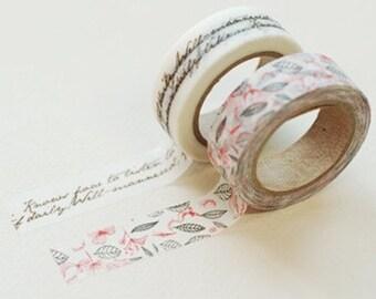 2 Rolls Japanese Washi Tape- Masking Tape -decoration Tape 15mm