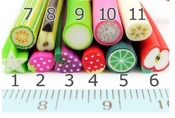 11Pcs Japanese Polymer Clay Cane Miniature Food Decoration and Nail Art