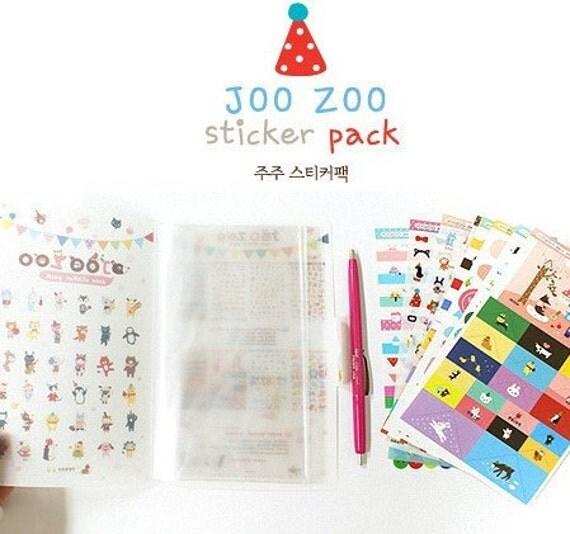 8 Sheets Korea DIY Kawaii Diary Pretty Sticker Set - Deco Translucent Sticker Set