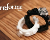 Wedding Ring Combo, 2 Single Wide Rings made out of Lego®