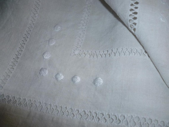 Reserved For Linda Vintage French  Sheet, Pure  Linen Sheet, Dowry Superb, Unused, Circa 1910ish.