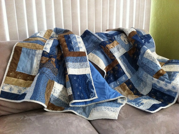 NEW LOWER PRICE- Matching Lap Quilt Set of 2 - Great Gift Set