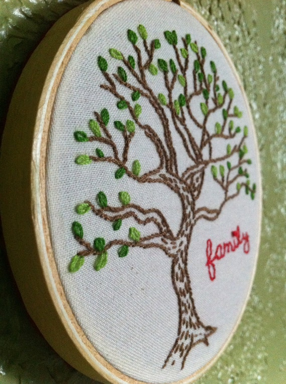 NEW LOWER PRICE- Family Tree Embroidery Hoop