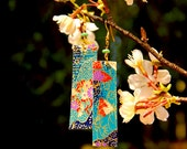 Japanese Origami Paper Long Dangle Earrings