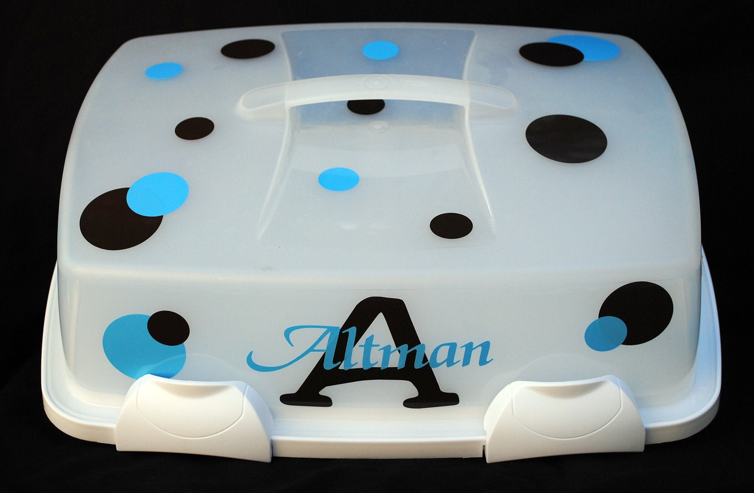 Personalized Cake Carrier Vinyl Kit By Palmettopersonalize