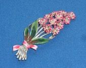 Brooch - Coro - Hyacinth - Enameled - Vintage