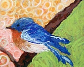 Bluebird Branch Greeting Card