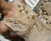 Creme Brulee Felted Dress