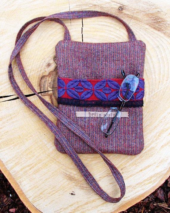 Crossbody Bag, Shoulder Bag, Sling Bag, Hipster Bag, Kindle/Nook, Purple Zipper