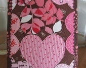 Valentine's Day Fabric Postcard