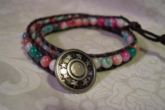 Double Wrap Beaded Bracelet Jade - 15