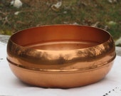 Vintage Molten Copper Footed Dish Bowl Coppercraft Guild