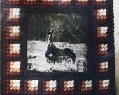 Vintage Photo Frame Designer Kit Plastic Needlepoint Canvas Kit Autumn Colors SALE