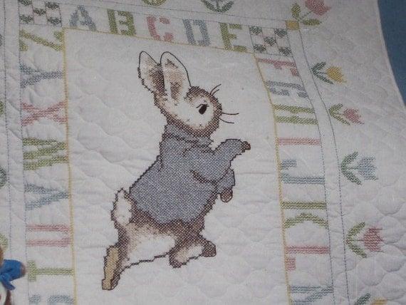 Beatrice Potter Peter Rabbit Vintage 1990 Cross Stitch Baby