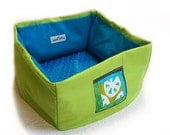 Quilt Block Pet Bed Small 12 Inch Square Dog Cat Couture Artistic Travel Collapsible Washable