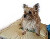 """Medium Duvet Pet Bed Cover 25"""" Square Envelope Closure Slip-proof Base Quilt Block Design Dog Cat Couture Artistic Travel"""