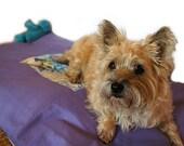"Large Duvet Pet Bed Cover 27""x41"" Envelope Closure Slip-proof Waterproof Base Quilt Block Dog Cat Couture Artistic Travel"