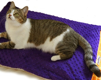 Purple & Orange Pillowcase Pet Bed Cover Standard/Queen Size Slip-proof Waterproof Base Dog Cat Couture Travel Washable