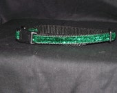 Green sparkle bling adjustable collar or martingale
