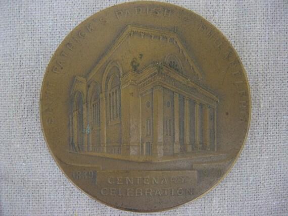 Bronze Commemorative Medal Saint Patricks Phila. Whitehead Hoag Co. Newark NJ