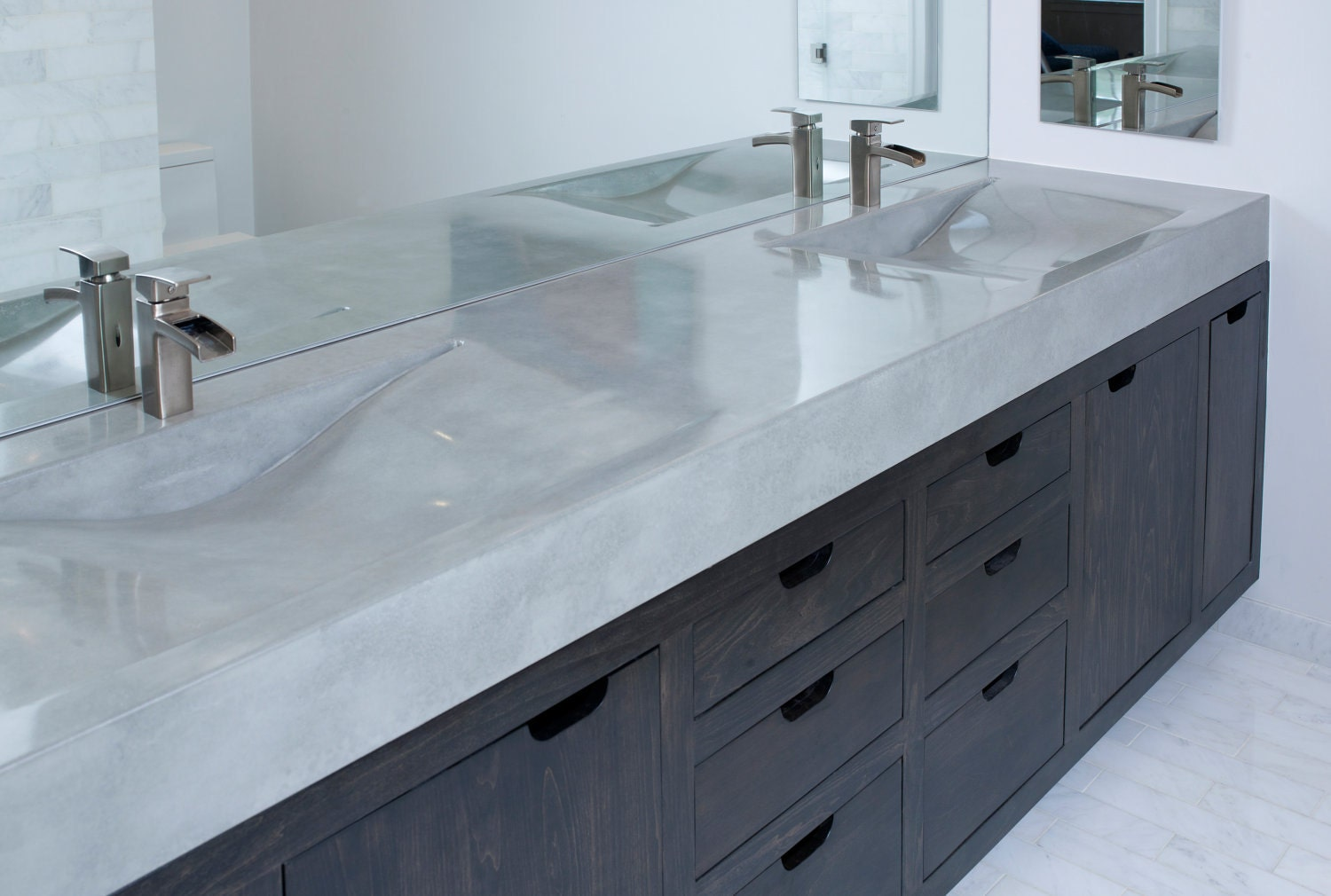 concrete vanity sink. Black Bedroom Furniture Sets. Home Design Ideas