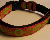 Retro Snowflake Winter Holiday Christmas Dog Collar