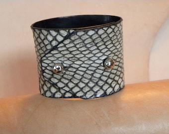 COBRA snakeskin cuff