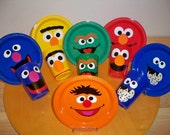 SESAME STREET BIRTHDAY party favor cups and plates (set of 24 cups and 24 plates)