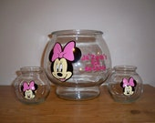MINNIE MOUSE BIRTHDAY 1 gallon party favor plastic fish bowl (price is for 1 fish bowl)