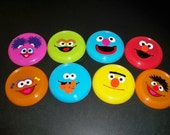 SESAME STREET BIRTHDAY party favors flying discs (set of 5)