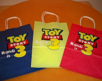 TOY STORY BIRTHDAY party favor bags or gift bags (set of 12 bags)