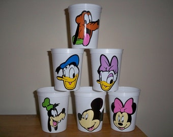 MICKEY AND FRIENDS birthday party favor cups 16 ounce