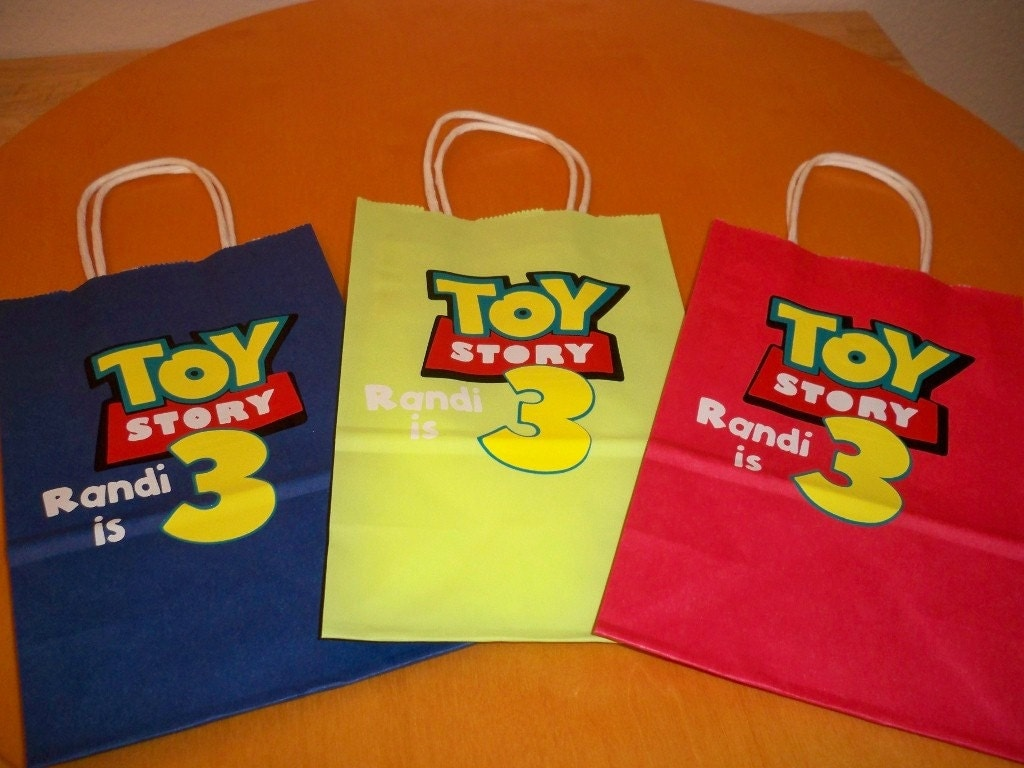 Party Favor Toys : Toy story birthday party favor bags or gift set of