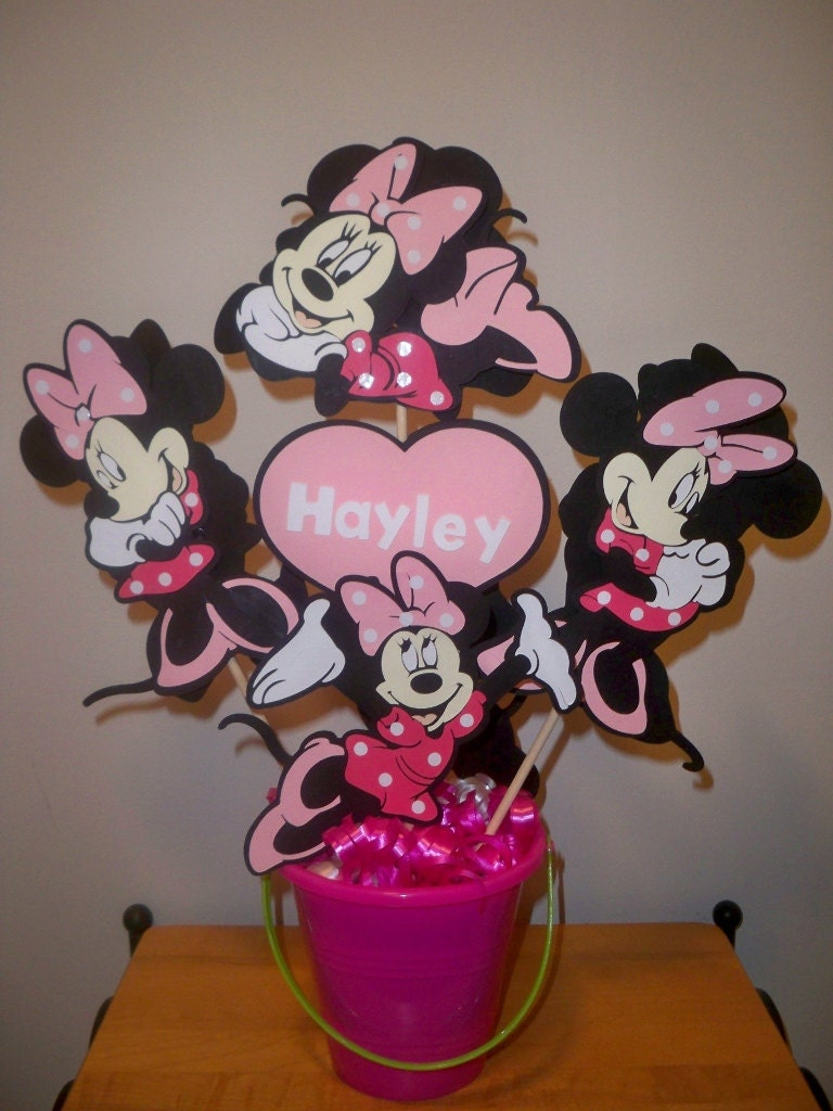 Minnie mouse birthday party centerpiece decoration