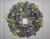Fourth of July Wreath - Support the Troops military fabric wreath