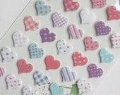 Diary Scrapbook Velvet Sticker Label Heart
