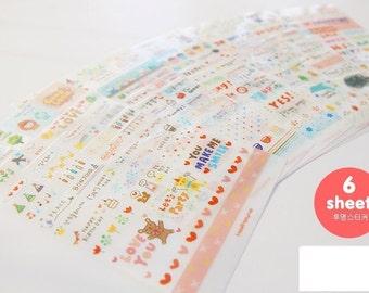 Diary Scrapbook Sticker Label Kawii Fun Time