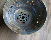 made to order aqua ceramic bowl berry bowl colander