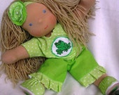 """RESERVE for Donna -SPRING SALE15"""" organic waldorf inspired doll Jacqueline"""