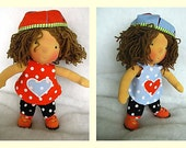 """RESERVE FOR CURLYSUE 13  Benny - 11""""waldorf inspired doll,Hubavini ,2012 Summer collection dolls"""