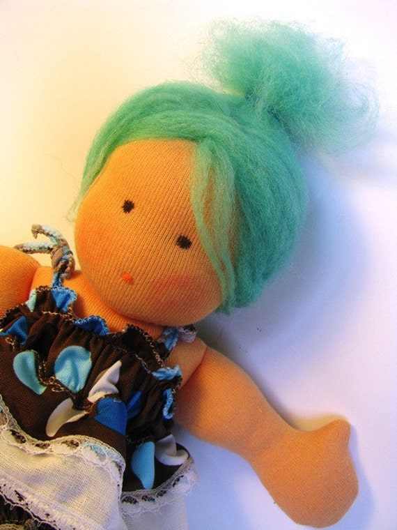 "11"" organic waldorf inspired doll Suzi"