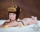 Monkey with Bananas Hat