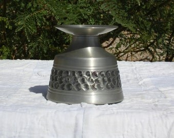 Vintage Mid Century Pewter Candle Holder