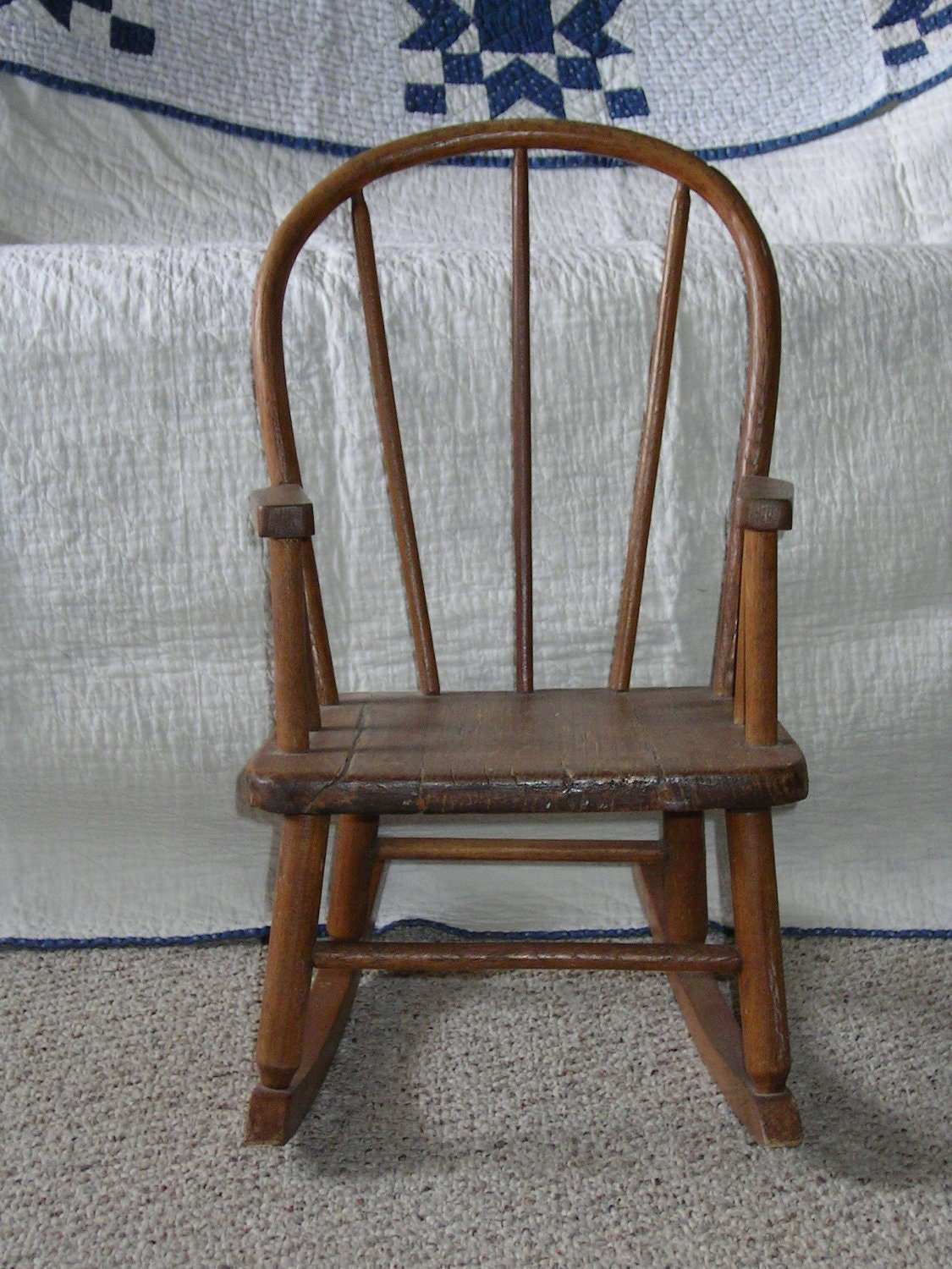 antique vintage bentwood child 39 s rocker rocking chair. Black Bedroom Furniture Sets. Home Design Ideas
