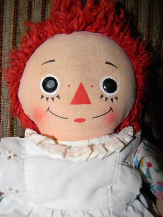 Raggedy Ann Doll - with Music Box - RARE