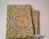 Kitchen Towel Set, Eco Friendly, Green, Damask